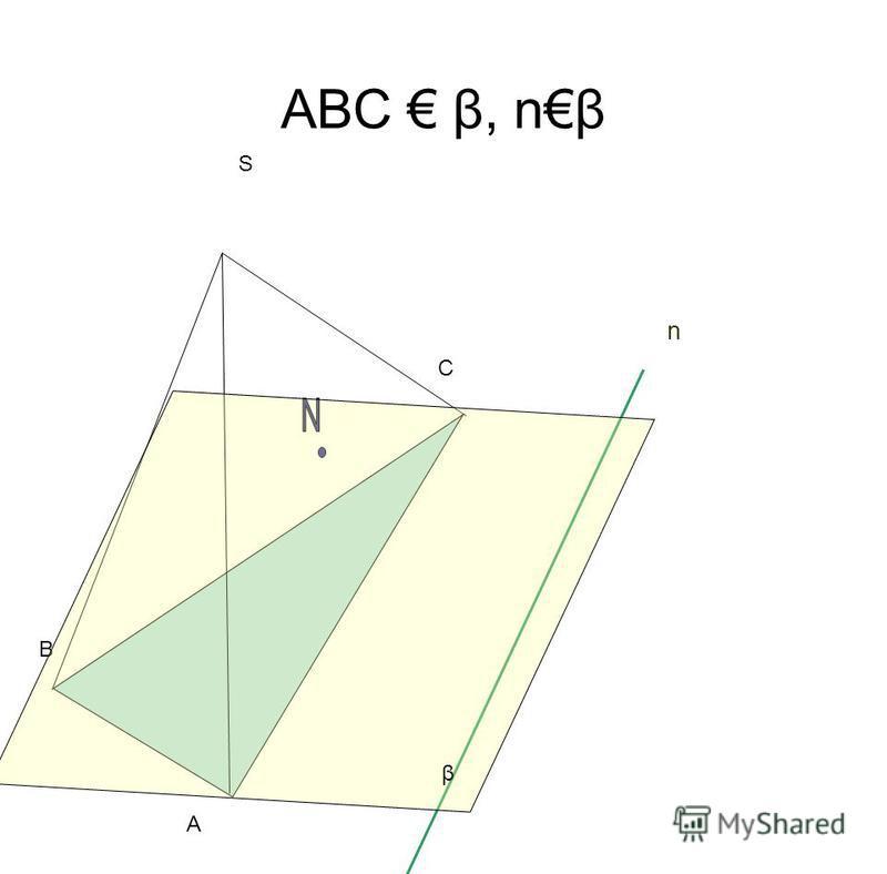 АВС β, nβ S A B C n β