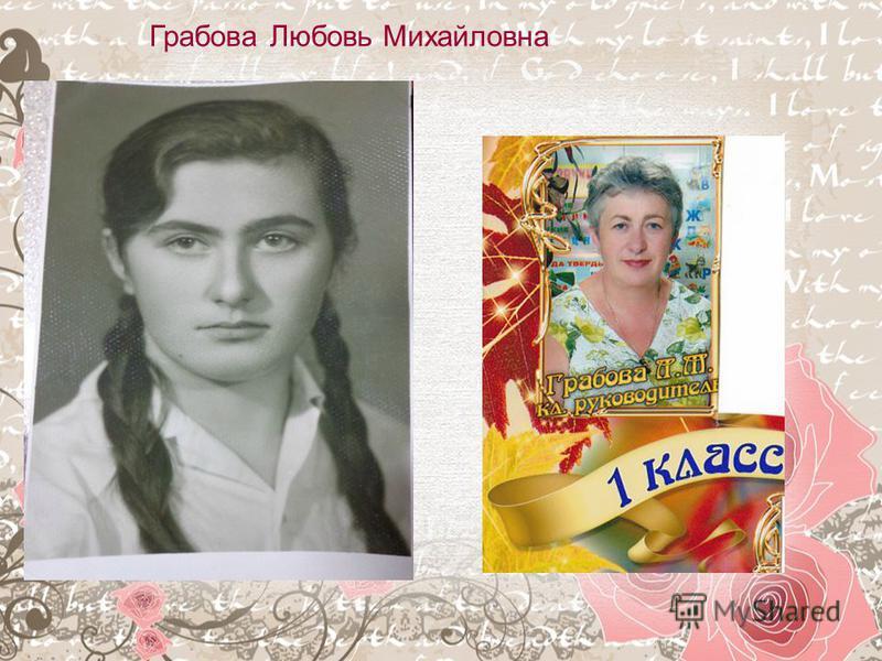 Грабова Любовь Михайловна