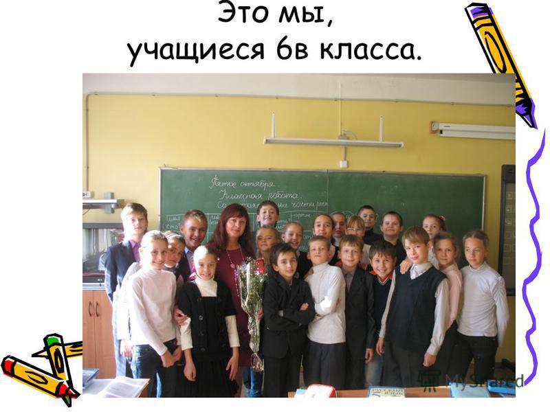 Это мы, учащиеся 6 в класса.