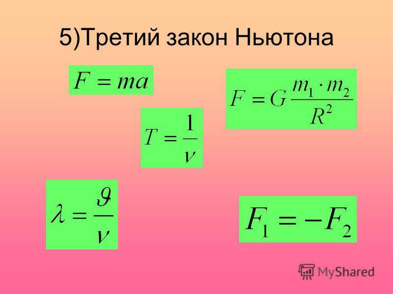 5)Третий закон Ньютона