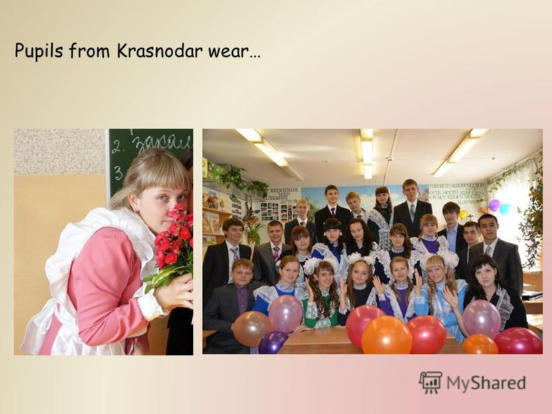 Pupils from Krasnodar wear…