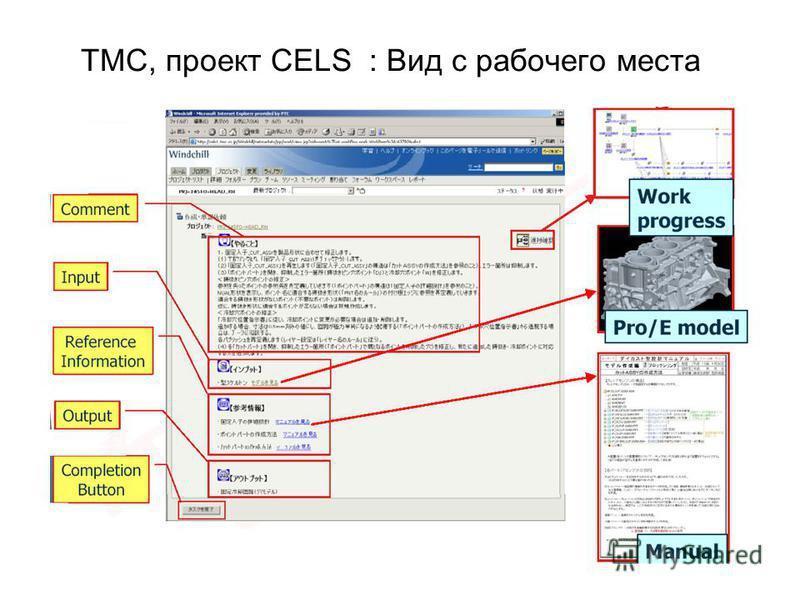 TMC, проект CELS : Вид с рабочего места
