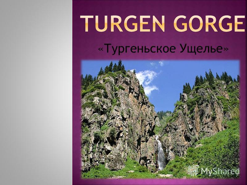 «Тургеньское Ущелье»