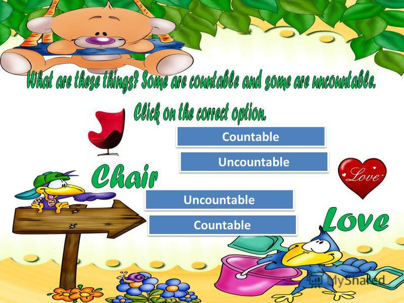 Try Again Great Job! Uncountable Countable Try Again Great Job! Countable Uncountable