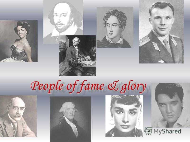 People of fame & glory People of fame & glory