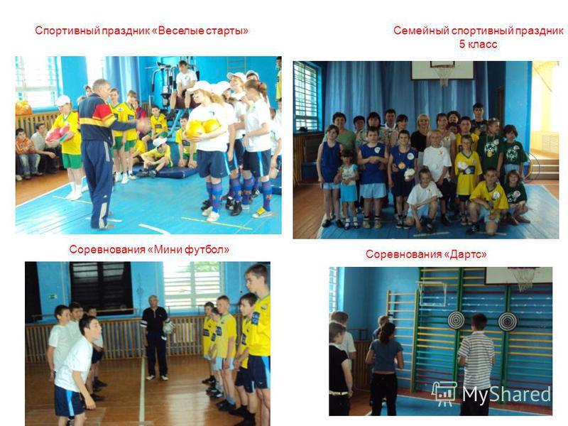 Семейный спортивный праздник 5 класс Спортивный праздник «Веселые старты» Соревнования «Дартс» Соревнования «Мини футбол»