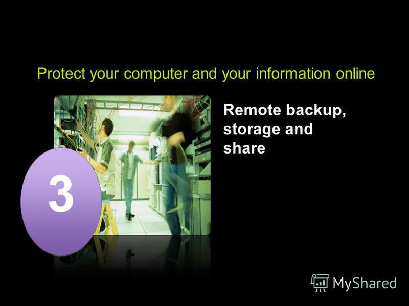 ACN Premium Technical Support Protect your computer and your information online Remote backup, storage and share 3