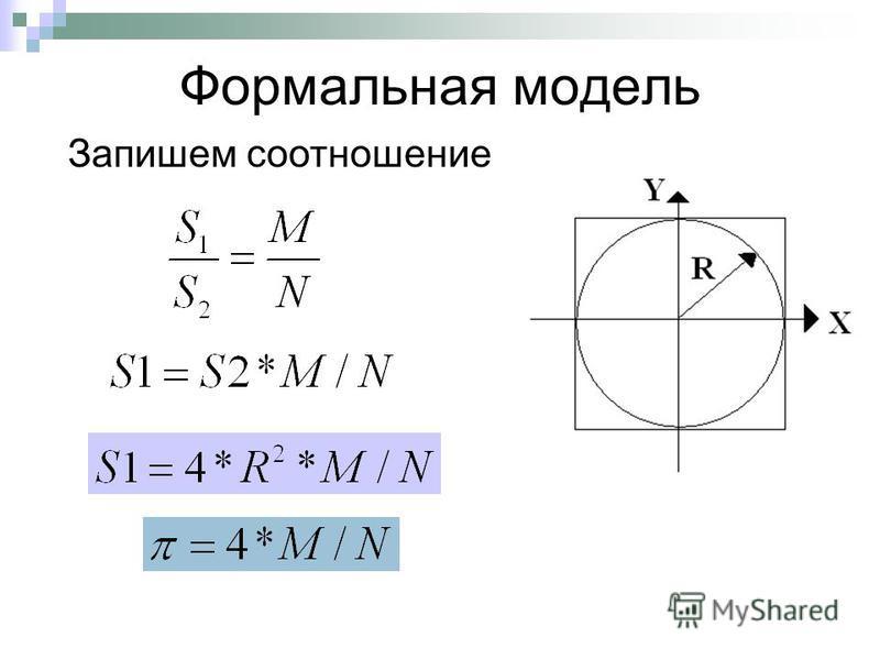Формальная модель Запишем соотношение