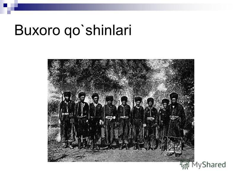 Buxoro qo`shinlari