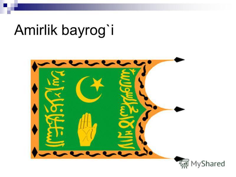 Amirlik bayrog`i