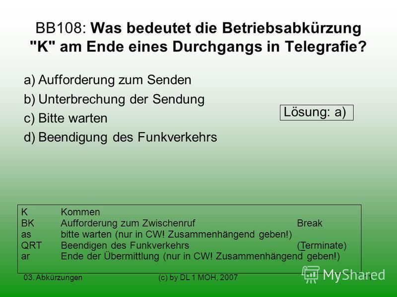 03. Abkürzungen(c) by DL 1 MOH, 200711 BB108: Was bedeutet die Betriebsabkürzung