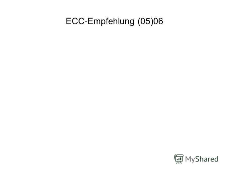 ECC-Empfehlung (05)06