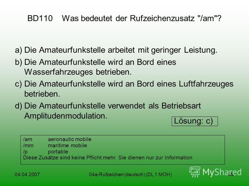 04.04.200704a-Rufzeichen (deutsch) (DL 1 MOH)49 BD110 Was bedeutet der Rufzeichenzusatz