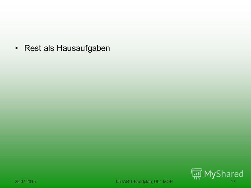 22.07.201505-IARU-Bandplan, DL 1 MOH17 Rest als Hausaufgaben
