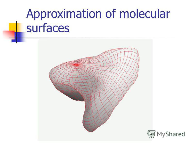 Approximation of molecular surfaces