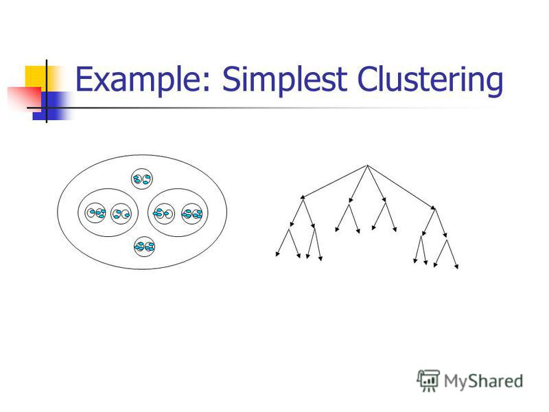 Example: Simplest Clustering
