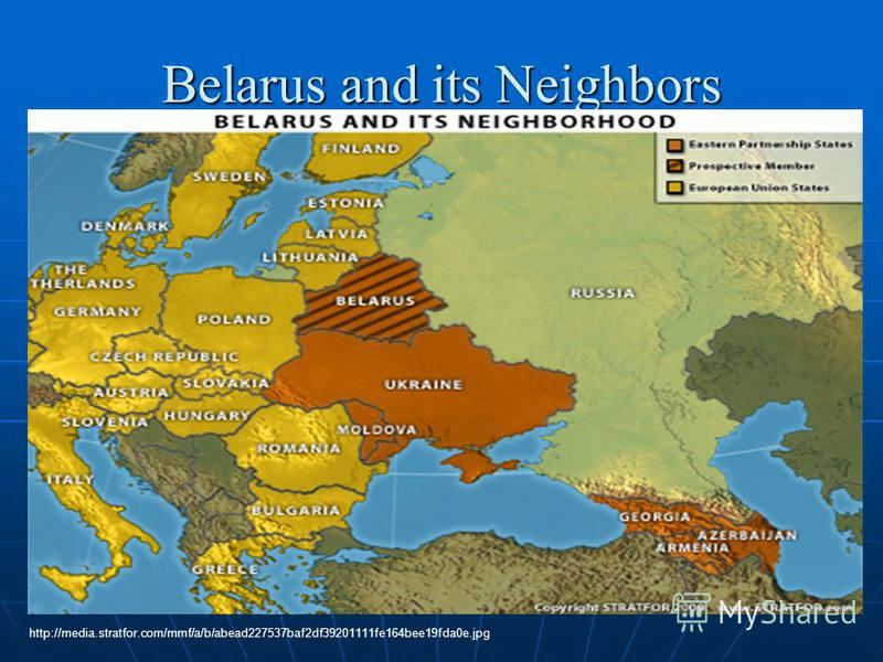 Belarus and its Neighbors http://media.stratfor.com/mmf/a/b/abead227537baf2df39201111fe164bee19fda0e.jpg