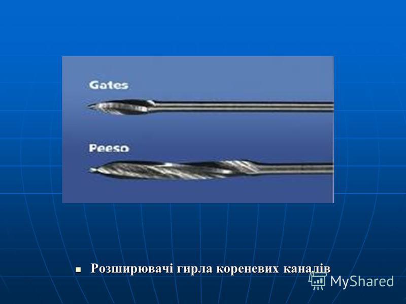 Розширювачі гирла кореневих каналів Розширювачі гирла кореневих каналів