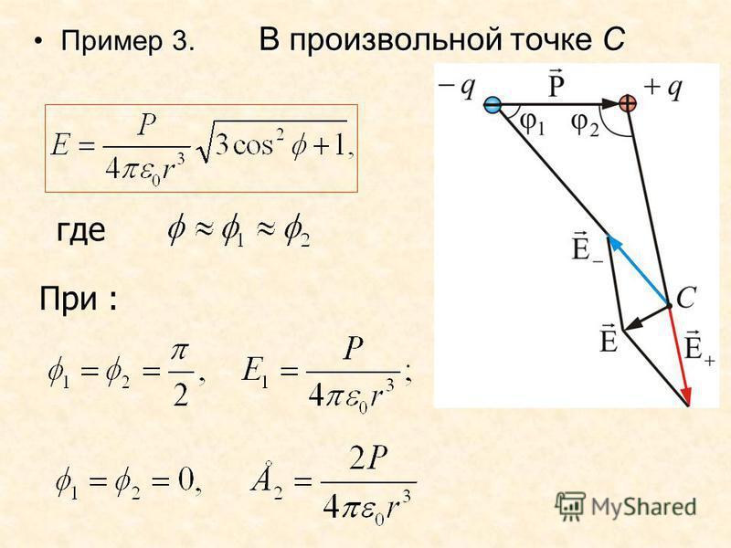 Пример 3. В произвольной точке СПример 3. В произвольной точке С где При :