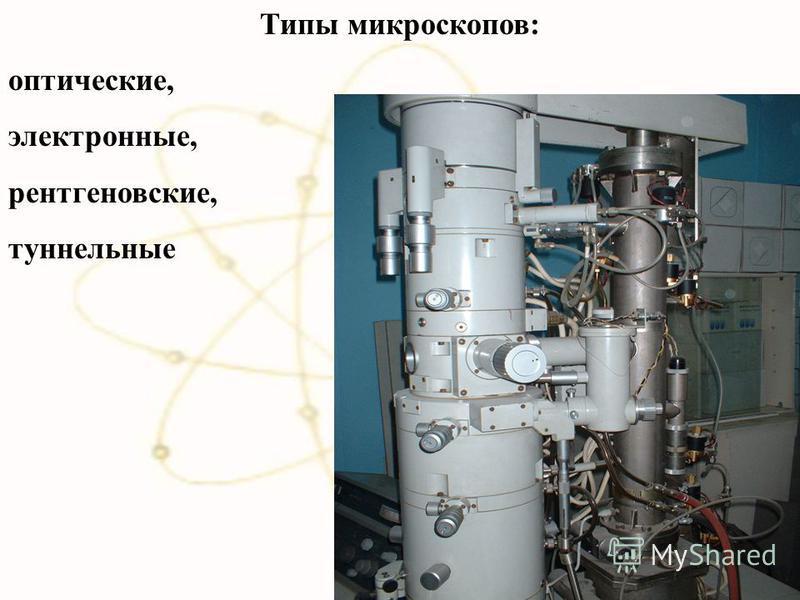 Типы микроскопов: оптические, электронные, рентгеновские, туннельные