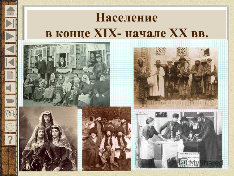 Население в конце XIX- начале XX вв.