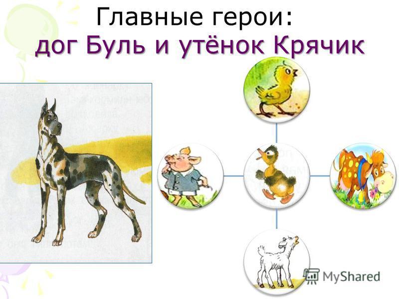 дог Буль и утёнок Крячик Главные герои: дог Буль и утёнок Крячик