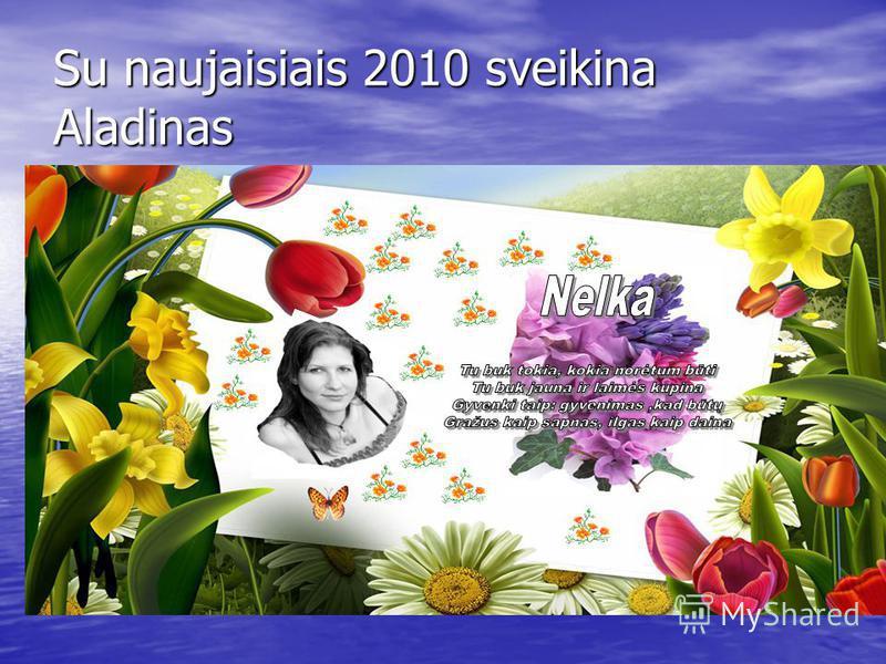 Su naujaisiais 2010 sveikina Aladinas