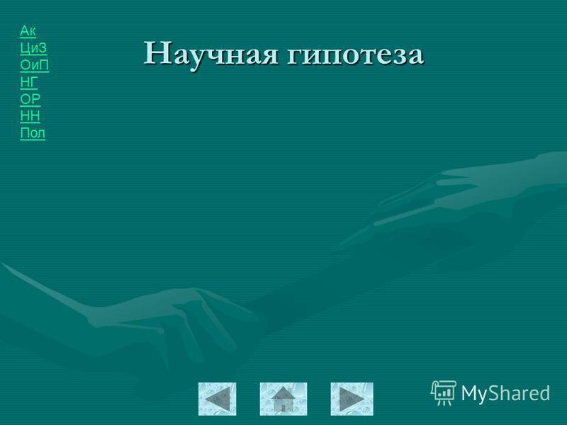 Ак ЦиЗ ОиП НГ ОР НН Пол Научная гипотеза