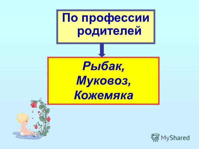 По профессии родителей Рыбак, Муковоз, Кожемяка