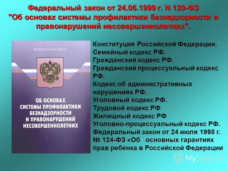 Федеральный закон от 24.06.1999 г. N 120-ФЗ