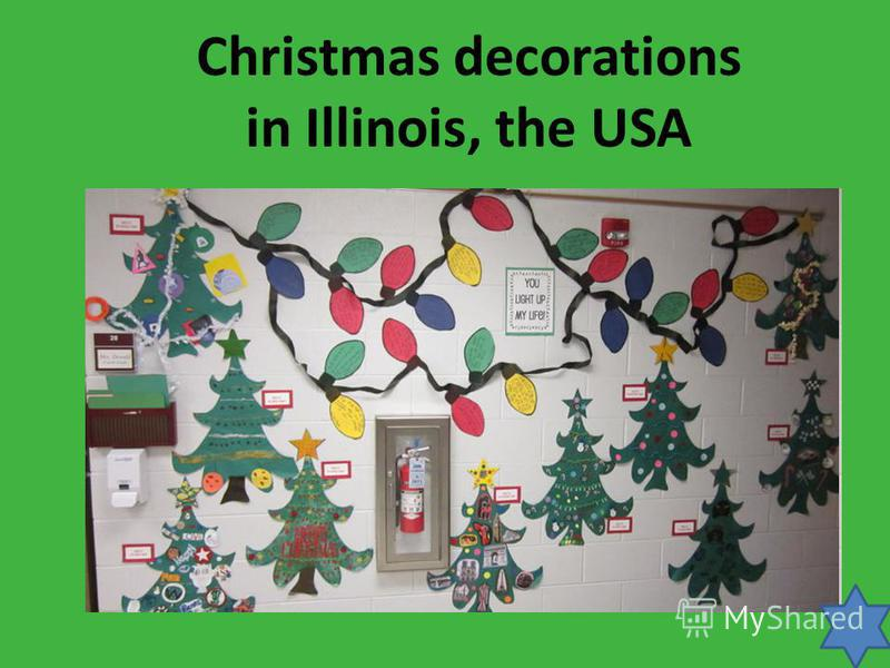 Christmas decorations in Illinois, the USA