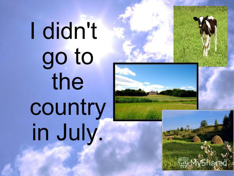 I didn't go to the country in July.