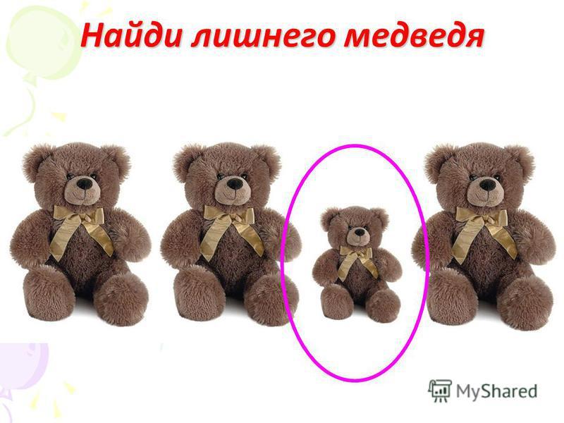 Найди лишнего медведя