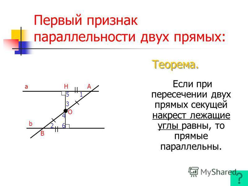 Накрест лежащие углы Односторонние углы Соответствен ные углы a b c c a b c a b 3 5 4 6 5 3 4 6 1 5 4 8 2 6 3 7