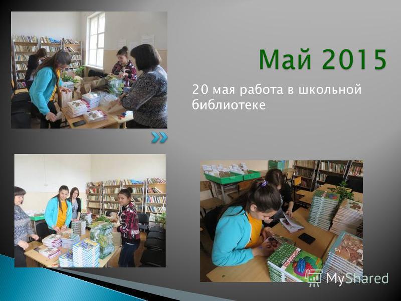 20 мая работа в школьной библиотеке