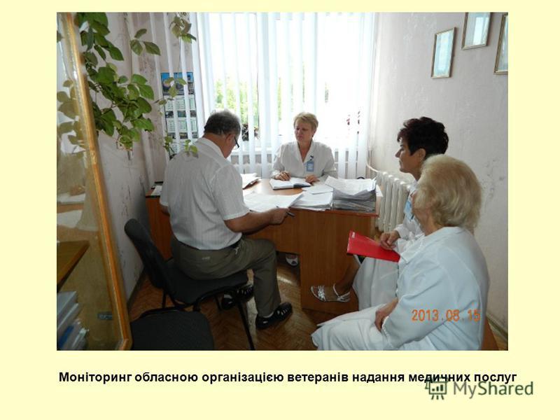 Моніторинг обласною організацією ветеранів надання медичних послуг