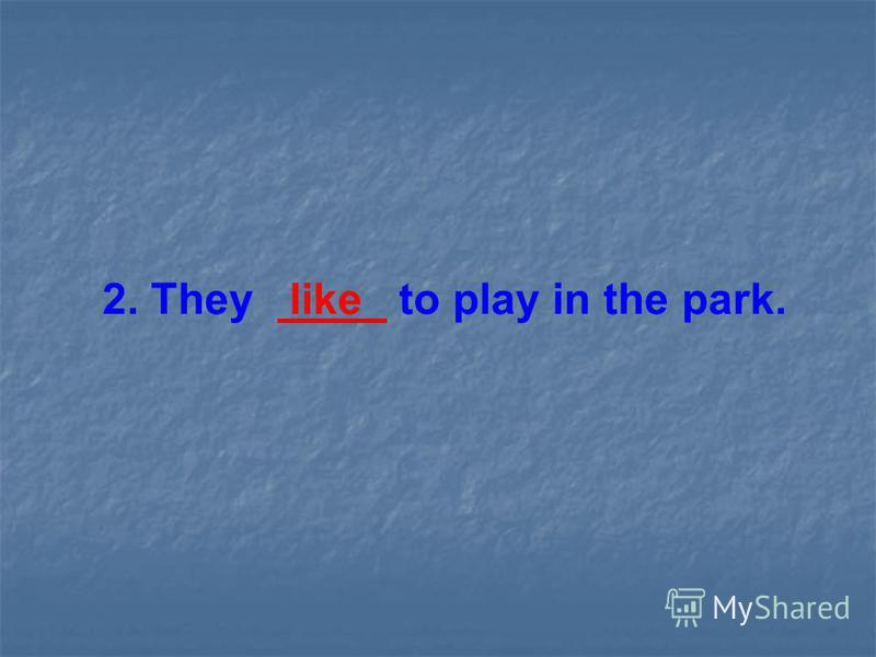 2. They like to play in the park.