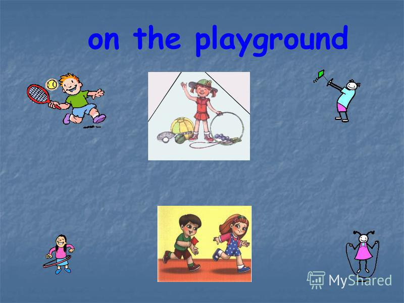 on the playground