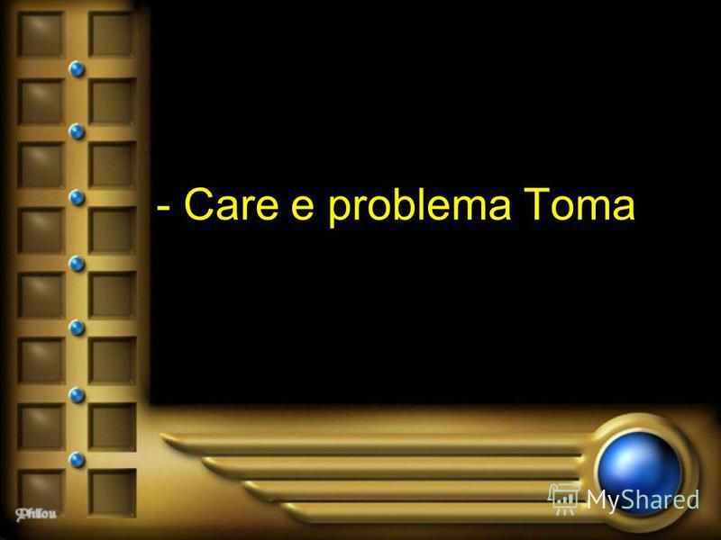 - Care e problema Toma ?