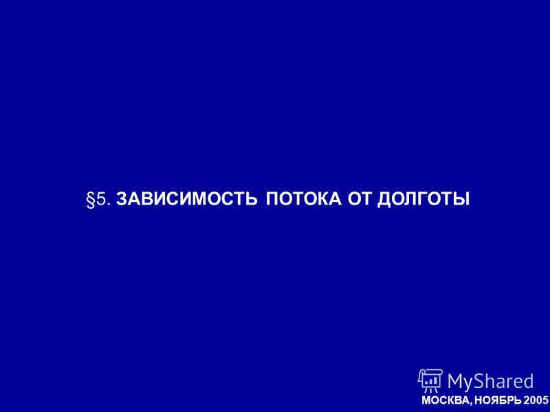 §5. ЗАВИСИМОСТЬ ПОТОКА ОТ ДОЛГОТЫ МОСКВА, НОЯБРЬ 2005