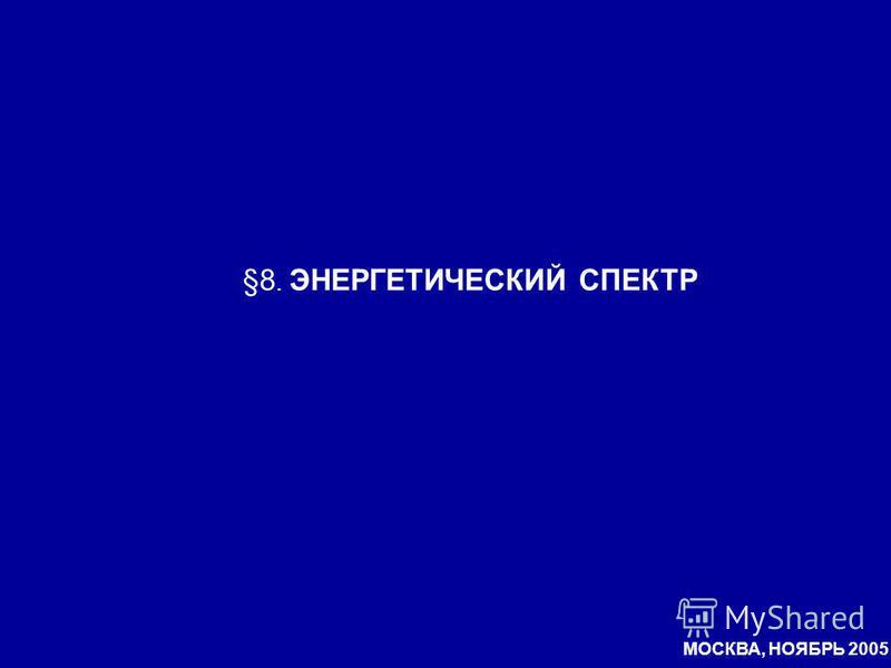 §8. ЭНЕРГЕТИЧЕСКИЙ СПЕКТР МОСКВА, НОЯБРЬ 2005
