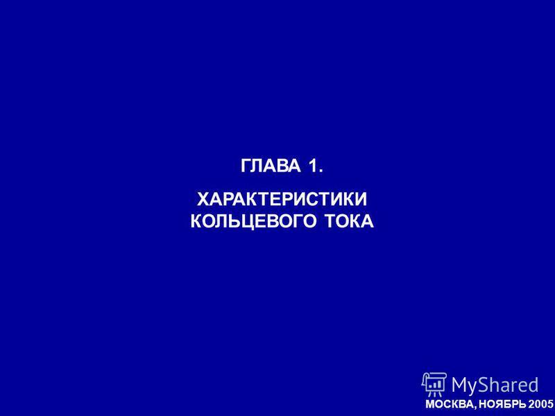 МОСКВА, НОЯБРЬ 2005 ГЛАВА 1. ХАРАКТЕРИСТИКИ КОЛЬЦЕВОГО ТОКА