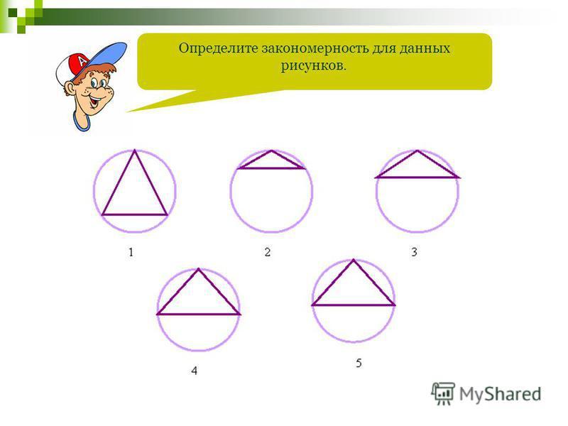 Определите закономерность для данных рисунков.