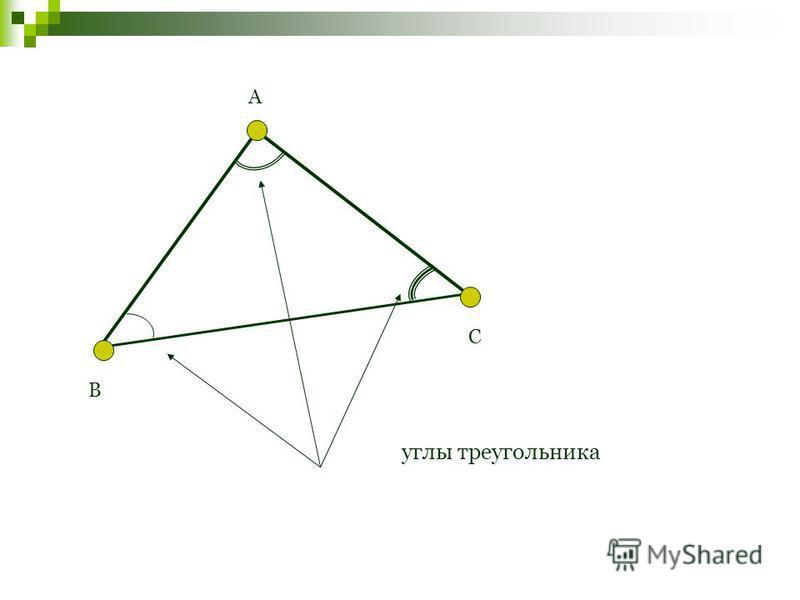 А В С углы треугольника