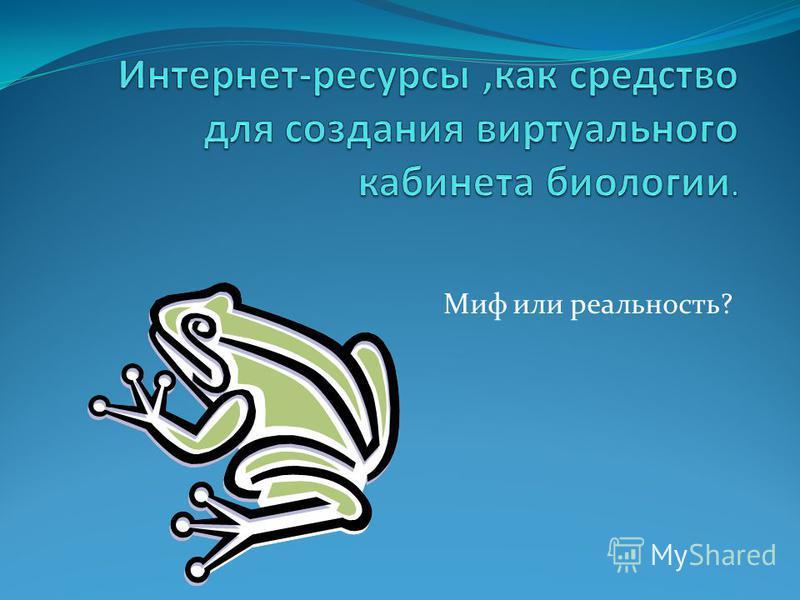 Миф или реальность?