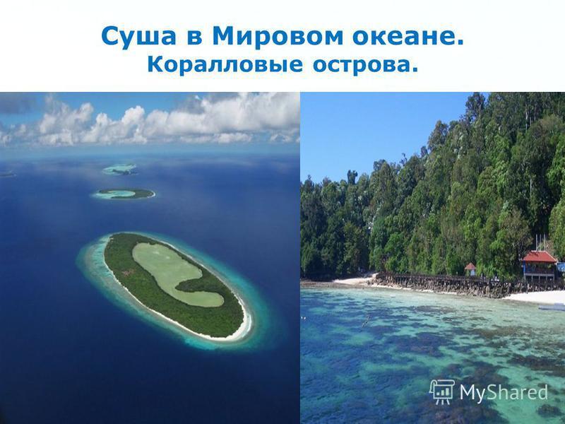 Page 17 Суша в Мировом океане. Коралловые острова.