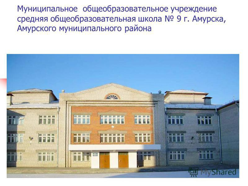 Муниципальное общеобразовательное учреждение средняя общеобразовательная школа 9 г. Амурска, Амурского муниципального района