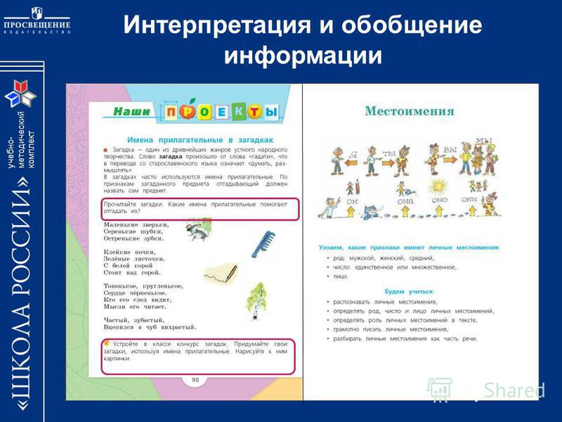учебно- методический комплект Интерпретация и обобщение информации