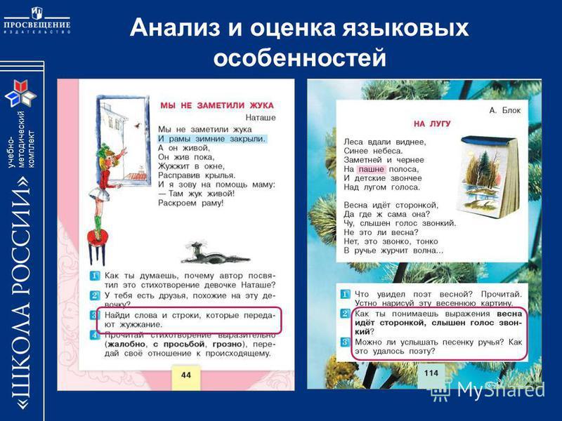 учебно- методический комплект Анализ и оценка языковых особенностей