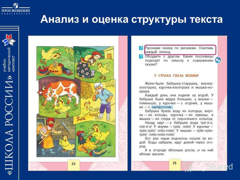учебно- методический комплект Анализ и оценка структуры текста
